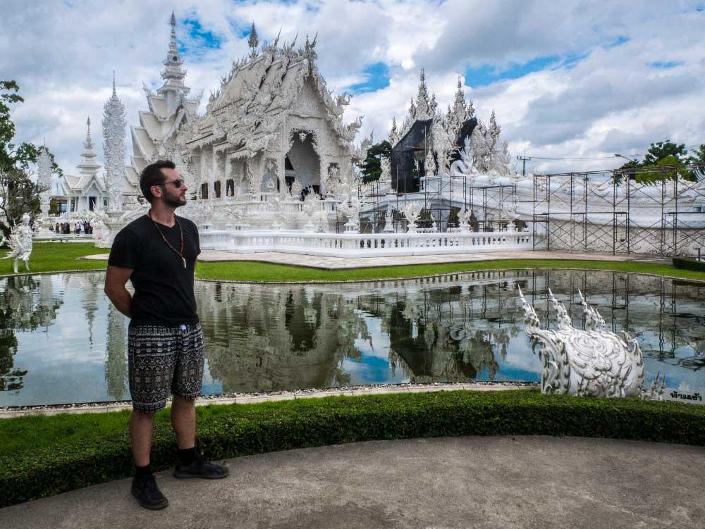 Der weisse Tempel in Thailand / Chiang Rai. Dieser Tempel war der wohl bisher beeindruckenste den ich sehen durfte.