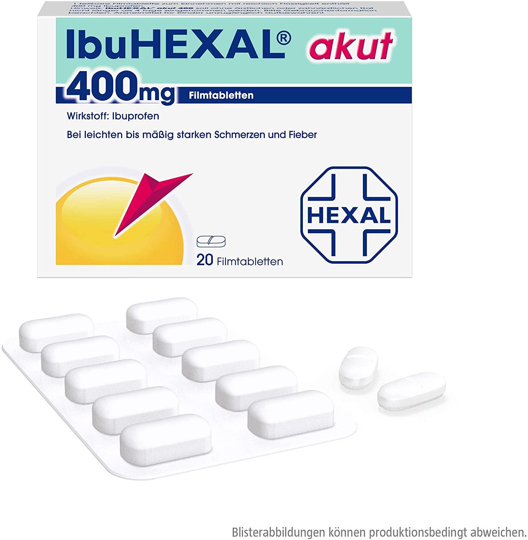 In der Weltreise Apotheke sollten ein paar wenige Ibuprofen Tabletten dabei sein